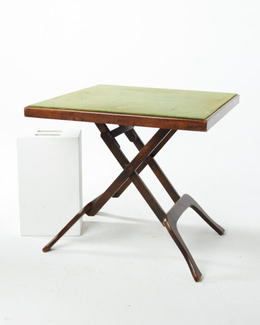 Front view of Huron Felt Top Folding Card Table