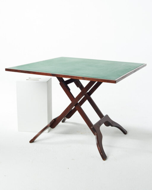 Front view of Boulder Hard Top Folding Card Table