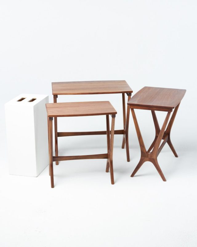 Front view of Arthur Side Table Set