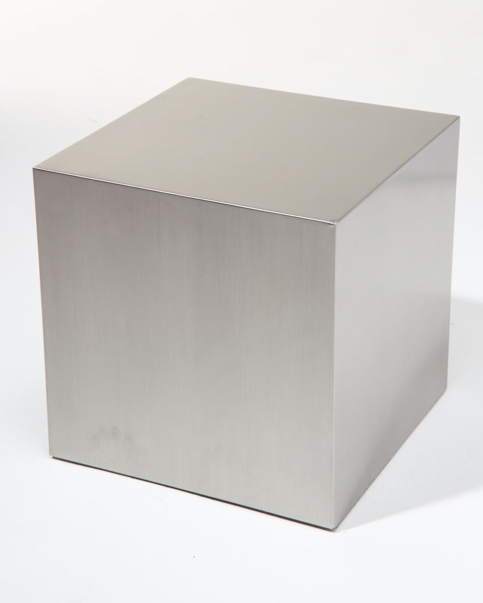 "Alternate view 2 of 16"" Stainless Steel Cube"