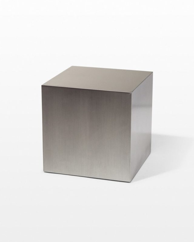 "Front view of 16"" Stainless Steel Cube"