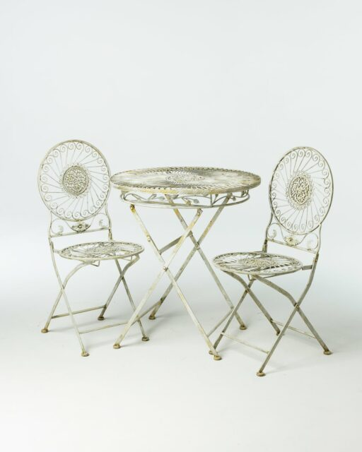 Front view of Audrey Garden Table and Chair Set