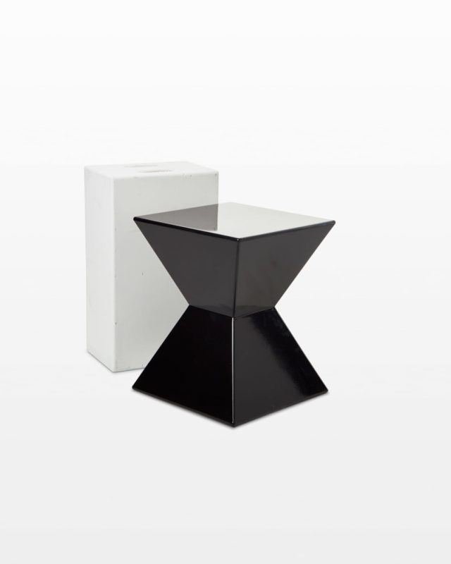 Front view of Pyramid Acrylic Side Table