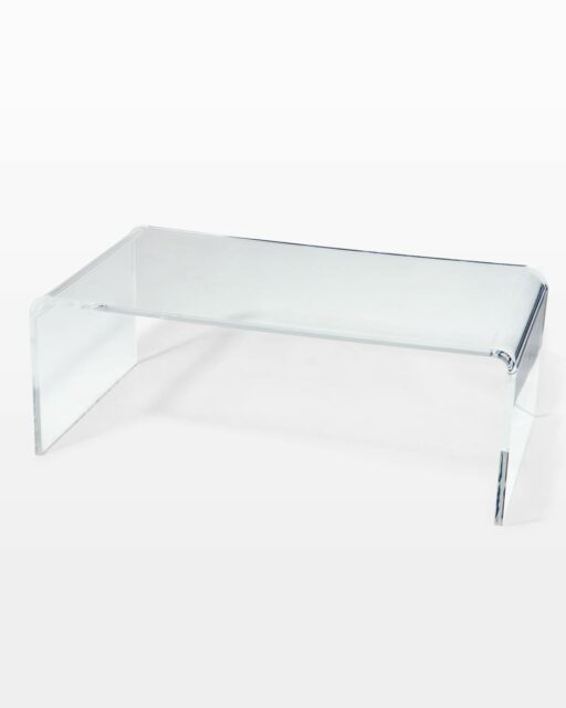 Front view of Brant Acrylic Coffee Table