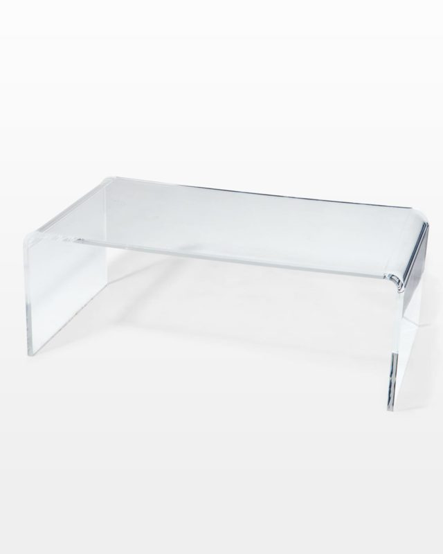 Front view of Brant Acrylic Table