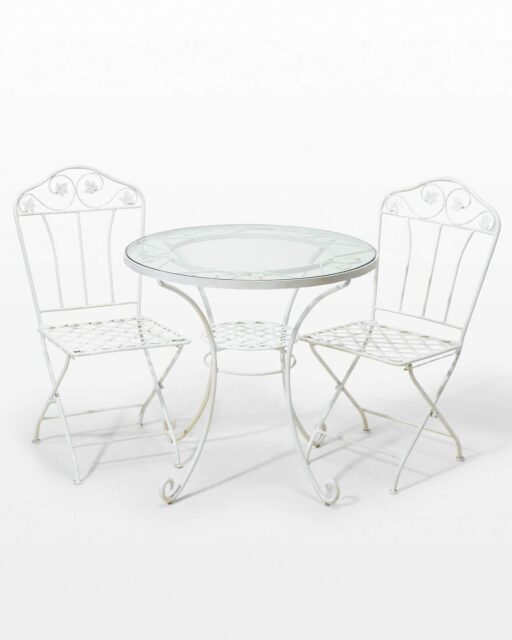 Front view of Jupiter Garden Table Set