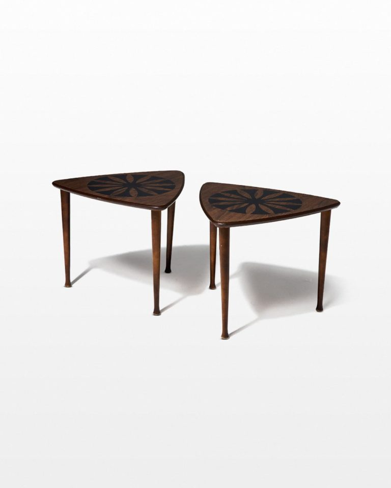 Front view of Eliza Side Table Pair