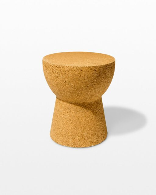 Front view of Avery Cork Side Table
