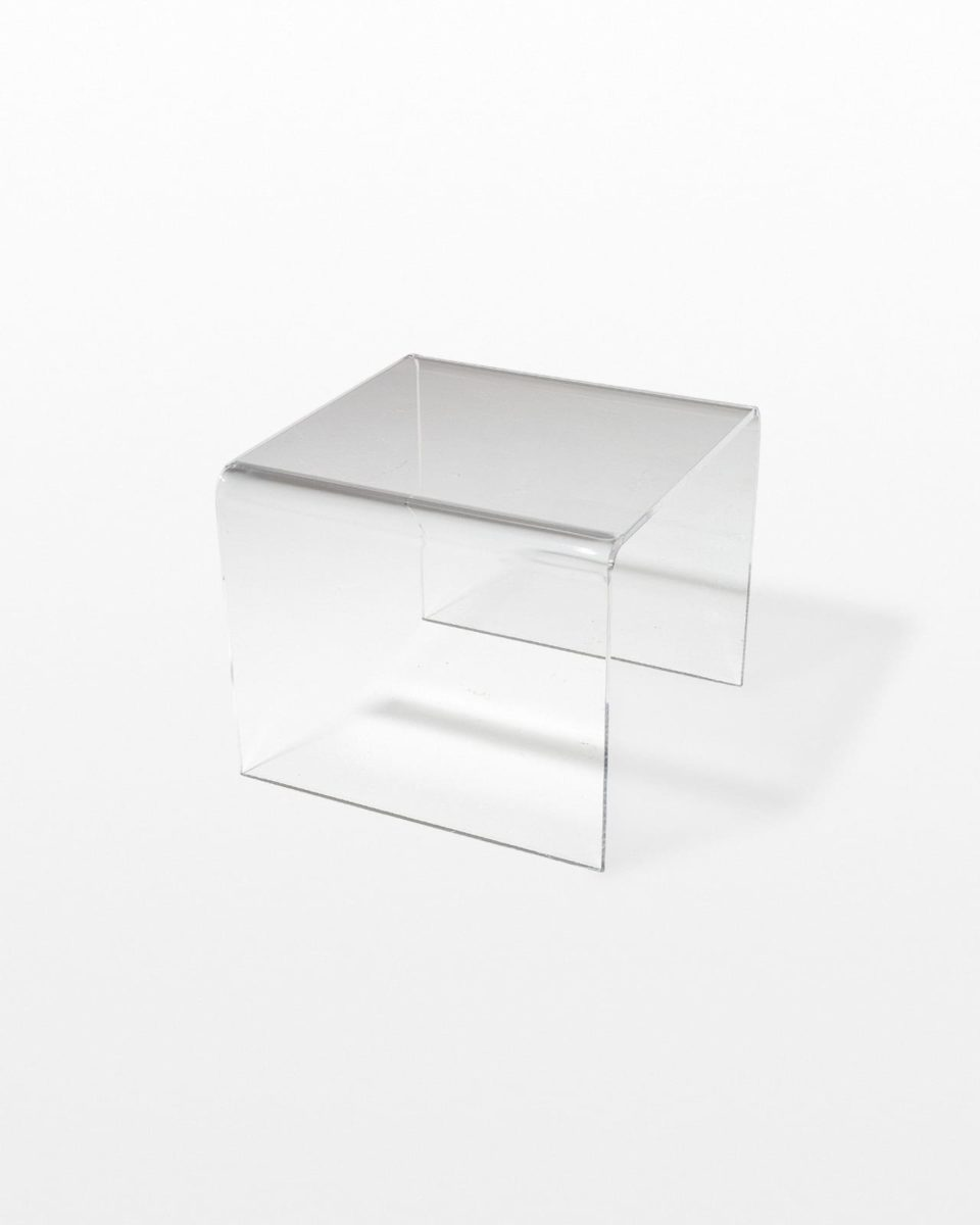 Front view of Brant Acrylic Side Table