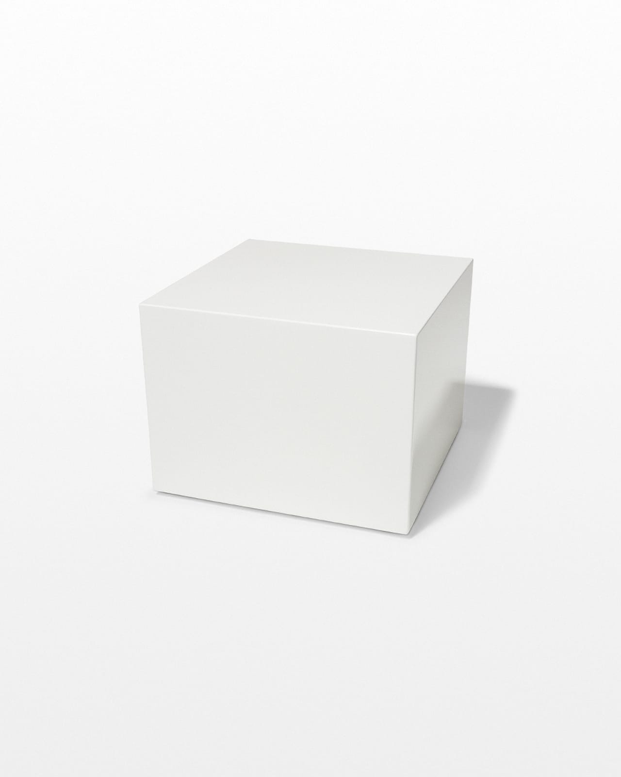 Tb117 Benny White Lacquer Cube Table