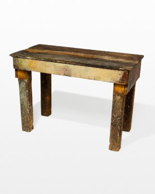 Front view of Brasher Wooden Table
