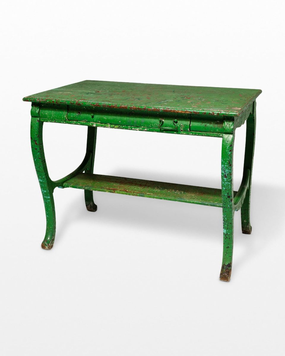 Front view of Colton Weathered Green Table