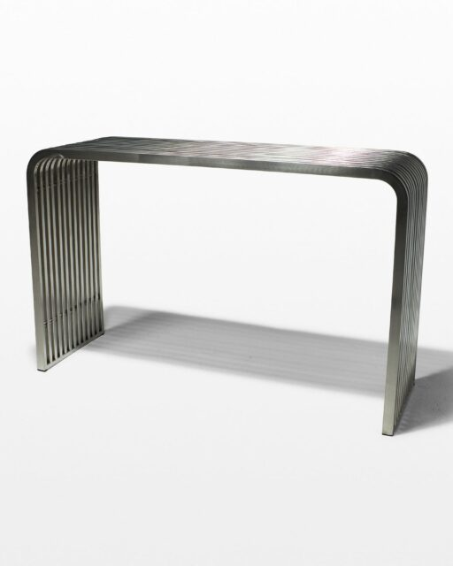 Front view of Silver Stripe Console Table