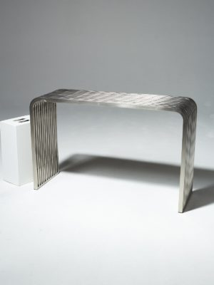 Alternate view 1 of Silver Stripe Console Table