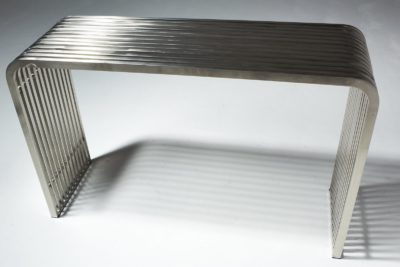Alternate view 2 of Silver Stripe Console Table