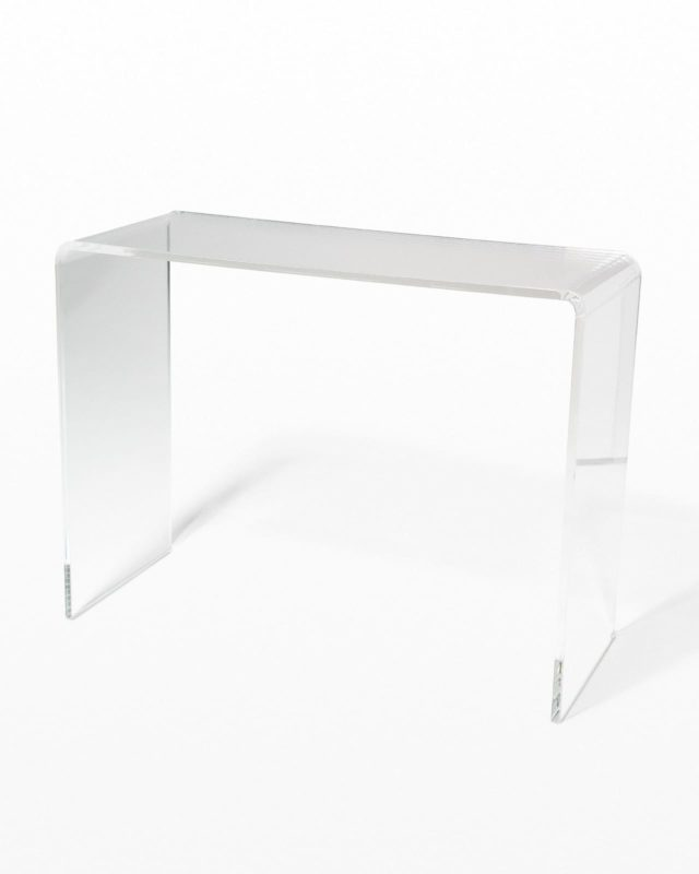 Front view of Brant Acrylic Console Desk