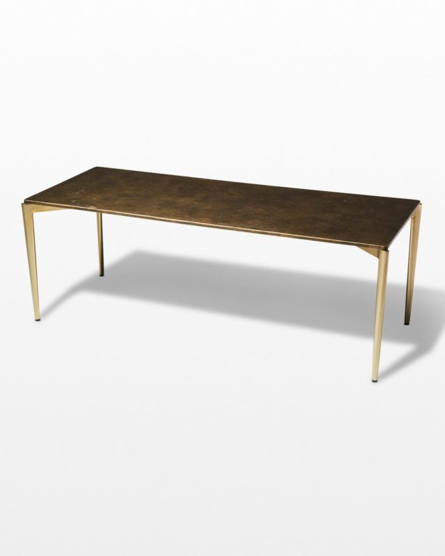 Front view of Jerome Textured Metal Coffee Table