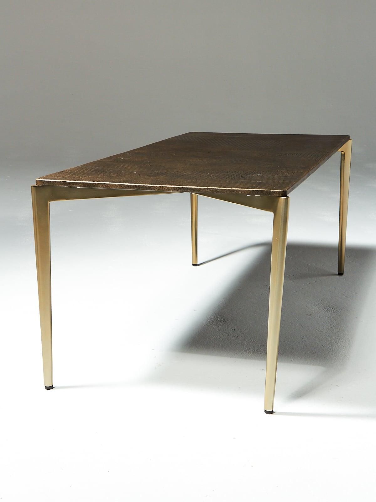 Tb131 Jerome Textured Metal Coffee Table Prop Rental