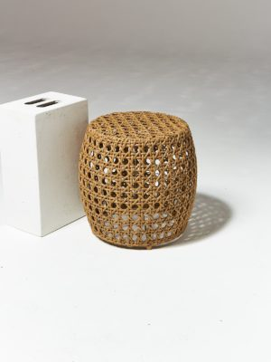Alternate view 1 of Pearl Caned Wicker Stool Table