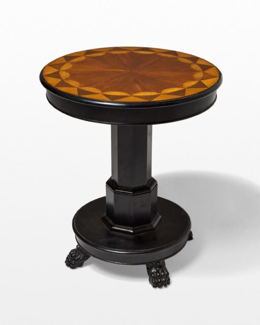 Front view of Wes Inlaid Wood Accent Table