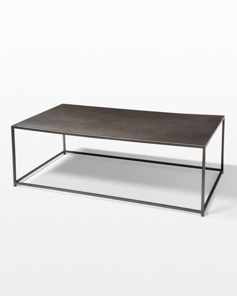 Front view of Izzo Metal Frame Coffee Table