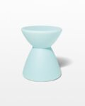 Front view thumbnail of Hourglass Turquoise Table Stool