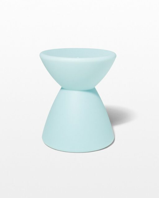 Front view of Hourglass Turquoise Table Stool