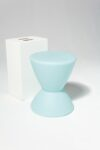 Alternate view thumbnail 1 of Hourglass Turquoise Table Stool