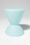 Alternate view thumbnail 2 of Hourglass Turquoise Table Stool