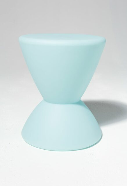 Alternate view 2 of Hourglass Turquoise Table Stool