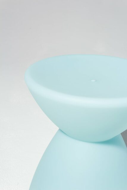 Alternate view 3 of Hourglass Turquoise Table Stool