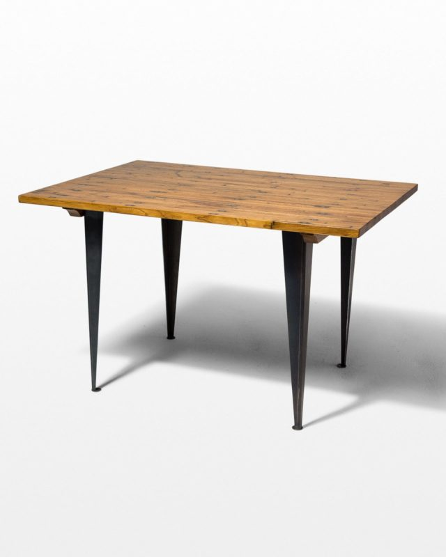 Front view of Rex Wood Top Table