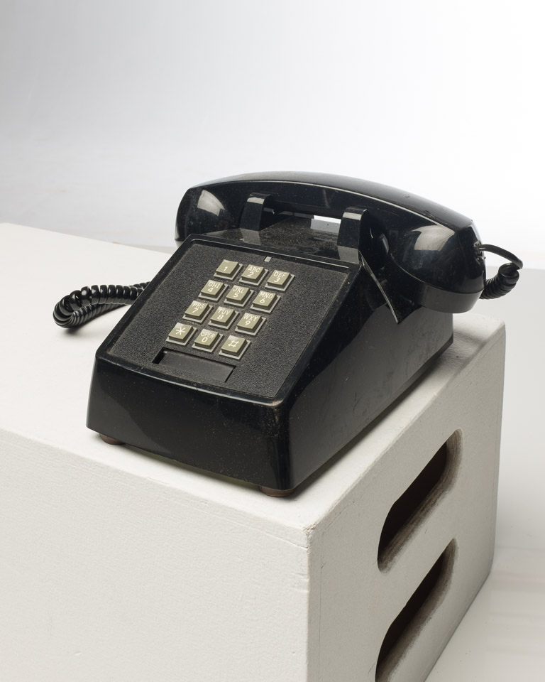 Front view of Black Table Top Touch Dial Phone