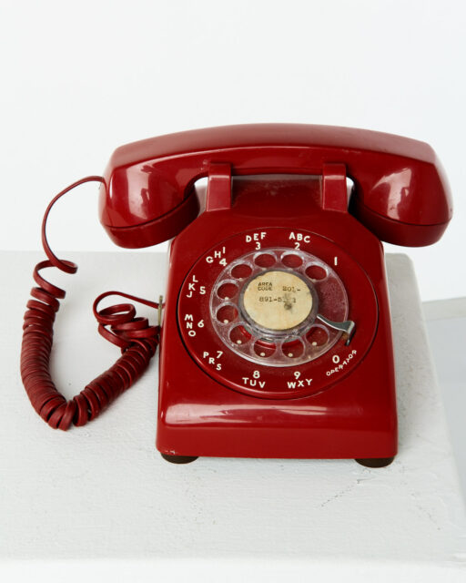 Alternate view 1 of Scarlet Red Rotary Phone