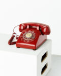 Front view thumbnail of Scarlet Red Rotary Phone