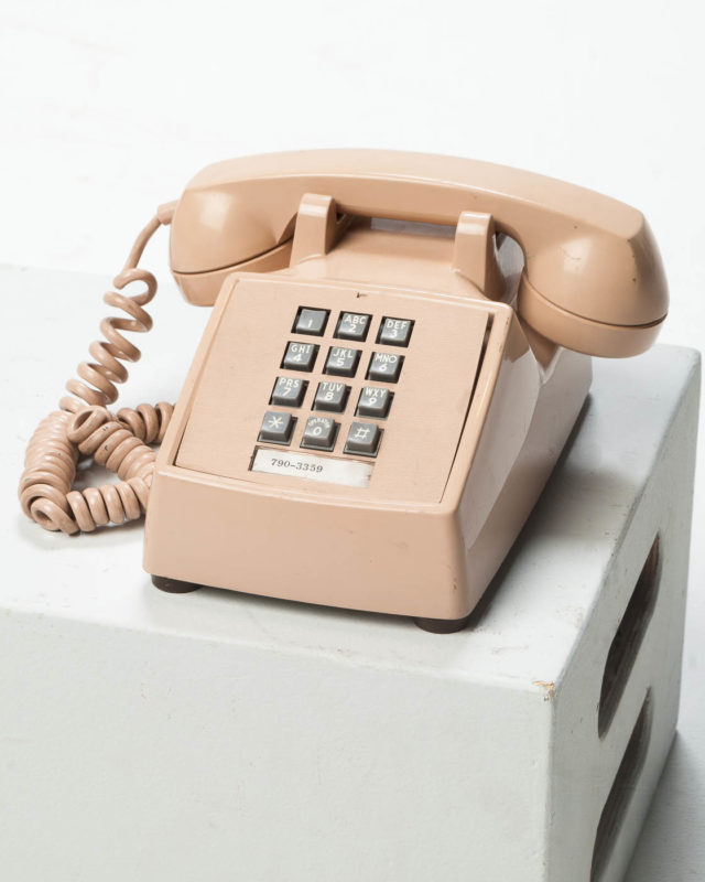 Front view of Elisha Beige Telephone