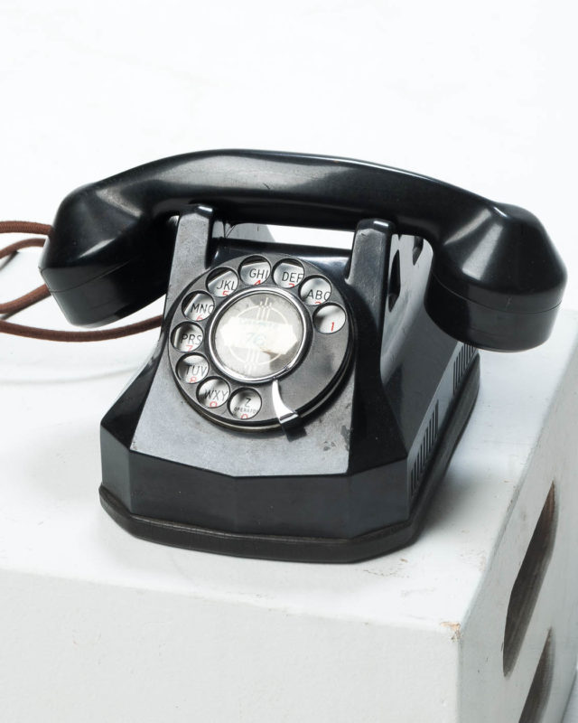 Front view of Tracey Rotary Telephone