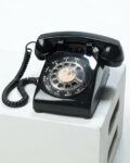 Front view thumbnail of Reis Black Rotary Telephone
