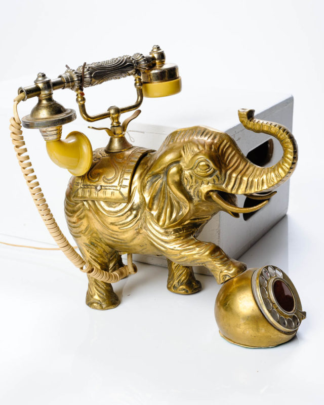 Front view of Brass Elephant Phone