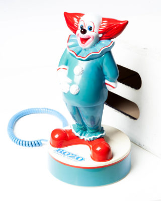 Front view of Clown Telephone