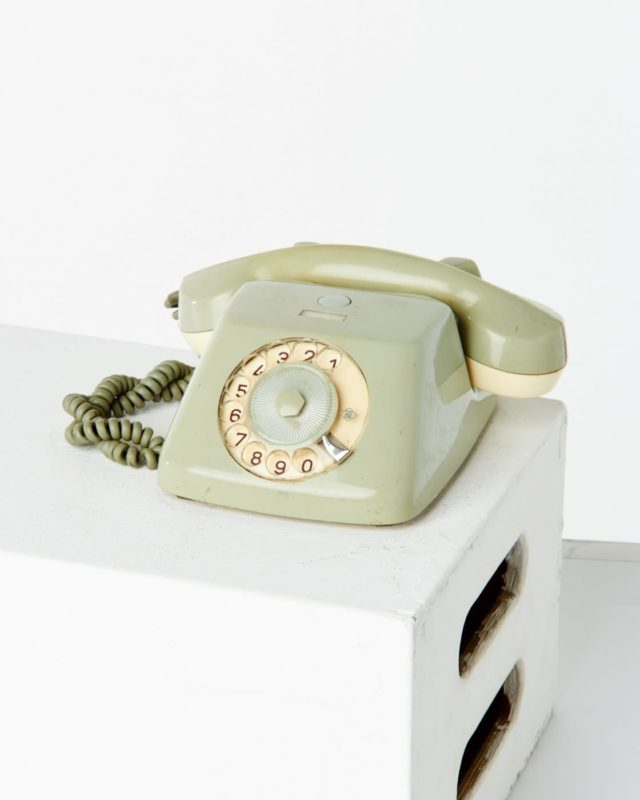 Front view of Smoke Rotary Phone
