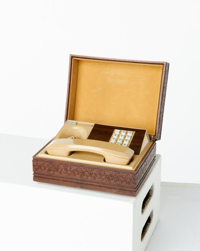 Front view of Hideaway Desk Phone