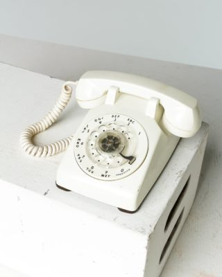 Alternate view 1 of White Rotary Phone