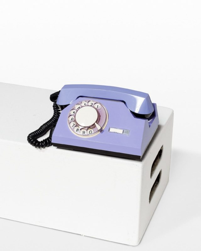 Front view of Francis Purple Rotary Phone