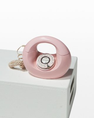Front view of Conner Pink Phone
