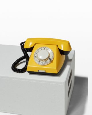 Front view of Canary Yellow Rotary Phone