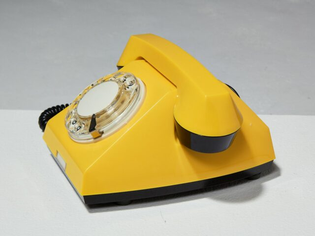 Alternate view 3 of Canary Yellow Rotary Phone