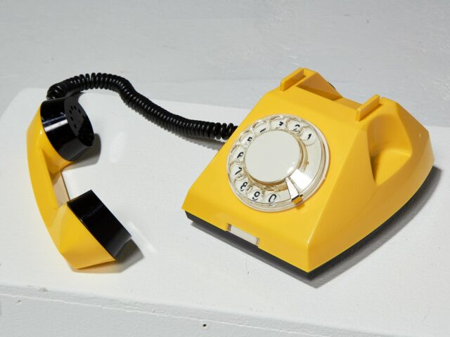 Alternate view 2 of Canary Yellow Rotary Phone