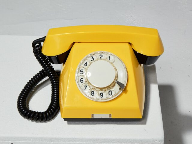 Alternate view 1 of Canary Yellow Rotary Phone