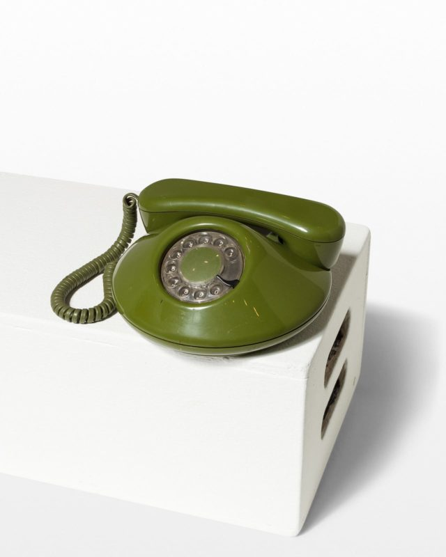 Front view of Avocado Rotary Phone